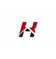 Abstract Letter K logo symbol vector image