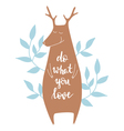Background with deer vector image