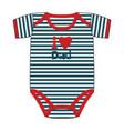 fashion clothes for newborn boy vector image