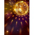 golden disco ball background vector image