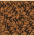 ink hand drawn seamless pattern with almond vector image