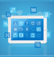 realistic mobile gadget concept app service vector image