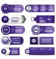 Set of violet progress version step icons eps 10 vector image