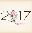 Happy New Year 2017 celebration background vector image vector image