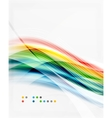 Glossy blurred shiny wave lines colorful stripes vector image