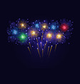 multicolored sparkling fireworks vector image