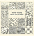 set of hand drawn marker and ink seamless patterns vector image