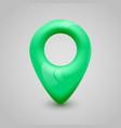 green map pin pointer modern design vector image