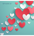 paper hearts 01 vector image vector image