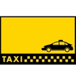 cab yellow backdrop with taxi car vector image