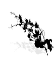 Silhouette of Plants Ilustration vector image vector image