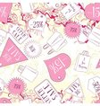 Seamless pattern with discount labels and fashion vector image