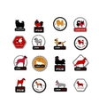 Set of labels with dogs for your design vector image vector image
