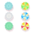Set of colorful beach umbrellas vector image
