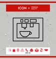 coffee machine coffee maker linear icon vector image