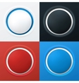 Colorful 3d buttons vector image