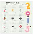 Creative calendar 2015 design template vector image