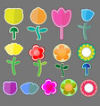cute flowers icon vector image