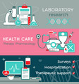 flat healthcare horizontal banners vector image