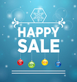 Happy Sale and Christmas Ball vector image