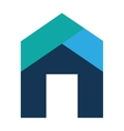 home house exterior isolated icon vector image