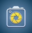 Icon aperture camera vector image