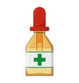 isolated medicine liquid bottle vector image