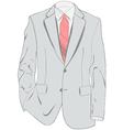 Light gray suit vector image