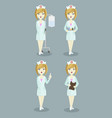 medical doctor nurse set vector image