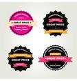 Set of labels Best sale vector image