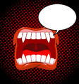 Vampire mouth style pop art Bubble for text Red vector image