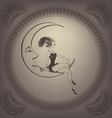 Young woman perform a circus stunt Flappers vector image vector image