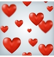 Flying red hearts Happy Valentines Day great for vector image