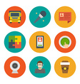 Flat design icons symbols for website and vector image vector image