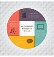 Circle square infographic vector image