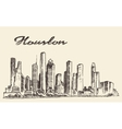 Houston skyline big city drawn vector image