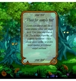 Landscape with mystical nature and frame for text vector image