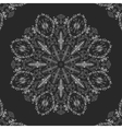 lace doily mandala round ornament vector image