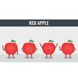 Apple Funny cartoon fruits Organic food vector image