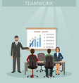 business situation with men and women employee vector image