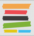 collection of adhesive tape pieces set vector image