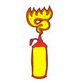 Comic cartoon hot sauce vector image