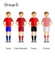 Football team players Group D - Spain Czech vector image
