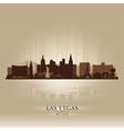 Las Vegas Nevada skyline city silhouette vector image