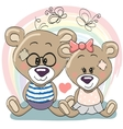 Lovers Bears vector image