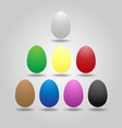Magic eggs floating on gray background vector image