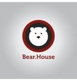 minimalistic bear head logotype vector image