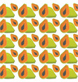papaya seamless pattern design vector image
