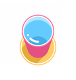 Pink bucket with clean water vector image