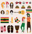 rastafarian subculture couple of young rastaman vector image